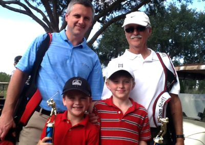 Family working with Wendy Doolan as Golf Coach